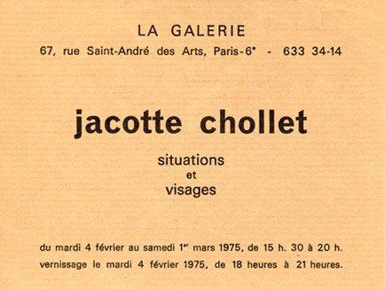 Jacotte chollet : exposition photo La galerie Paris 6